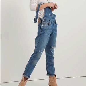 Lucky Brand Distressed Boyfriend Overall.